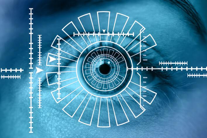 Сканирование лица человека с помощью современных технологий Face ID