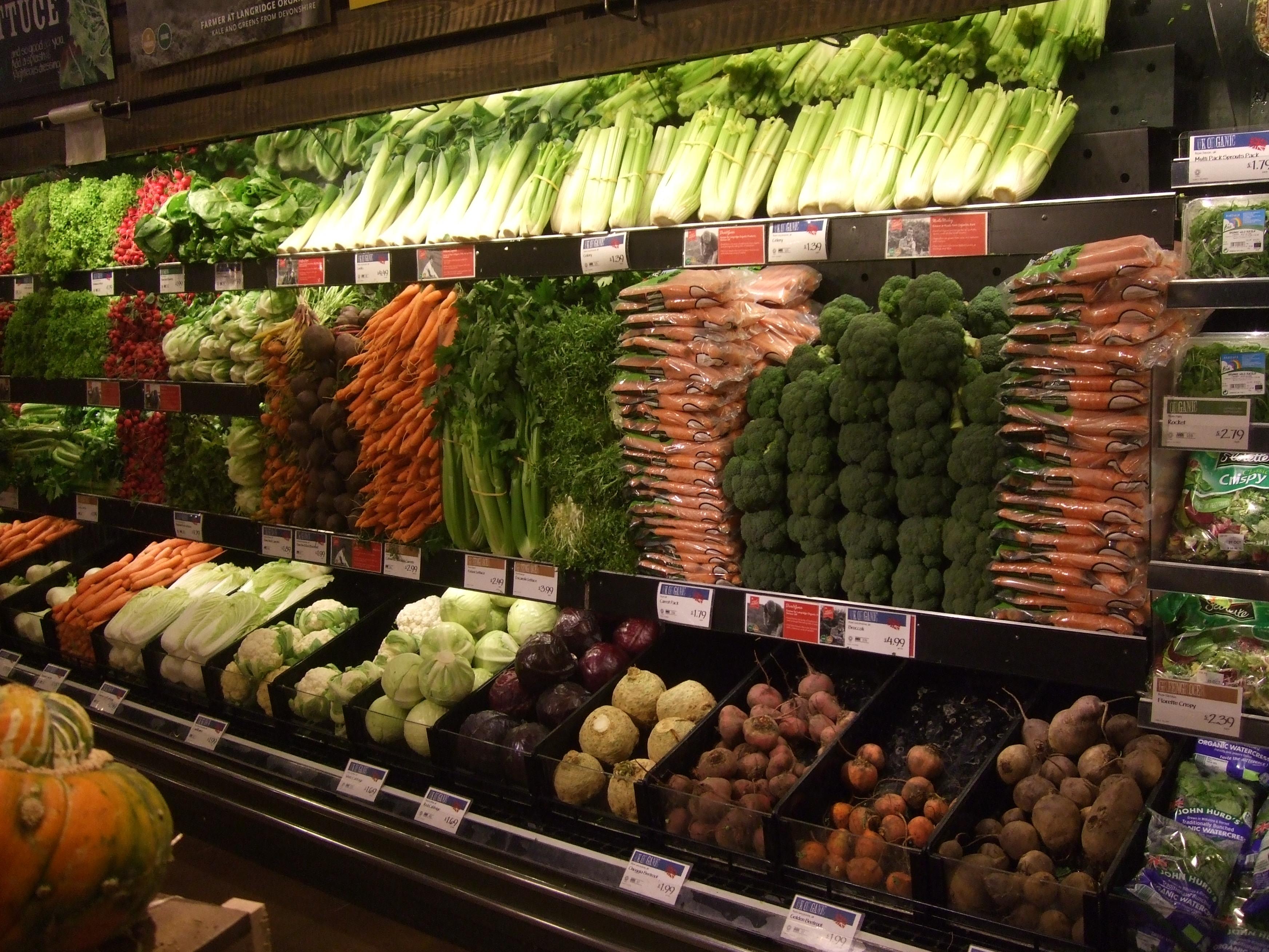 фото овощного отдела выращенных